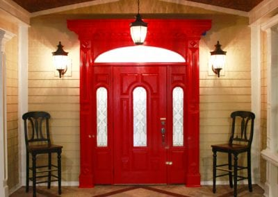 Parks entrance red door